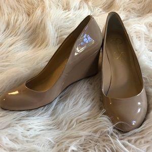 Jessica Simpson Patent Leather Wedges Sz 6